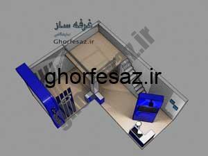 یک طرح غرفه دو طبقه