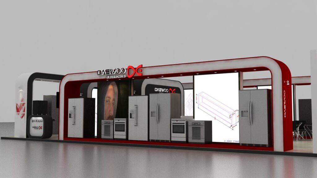 طراحی غرفه دوو درشهر گرگان